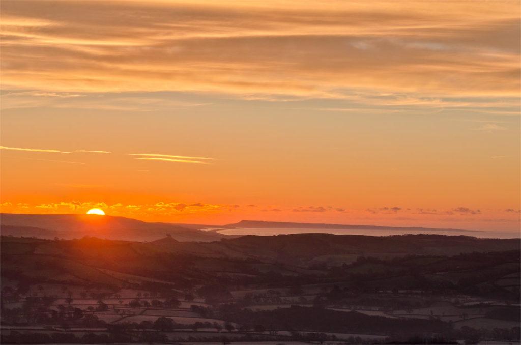 Marshwood Vale Sunrise, Jurassic Coast, Lyme regis, Dorset